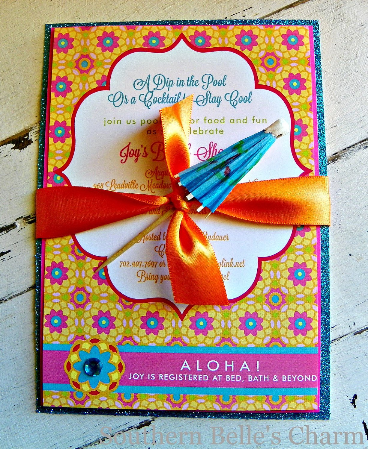 Homemade Luau Party Invitations