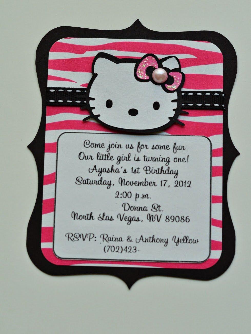 Hot Pink Zebra Birthday Invitations