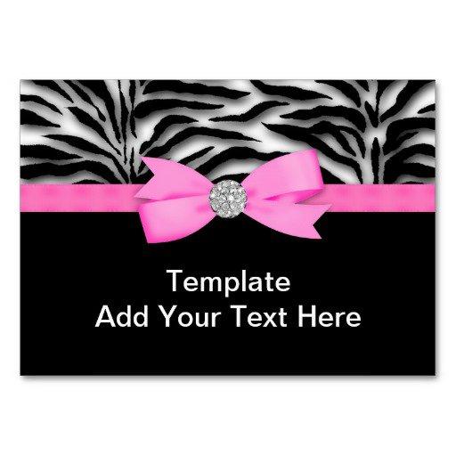 Hot Pink Zebra Invitation Template