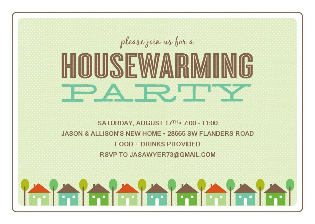 House Warming Card Templates