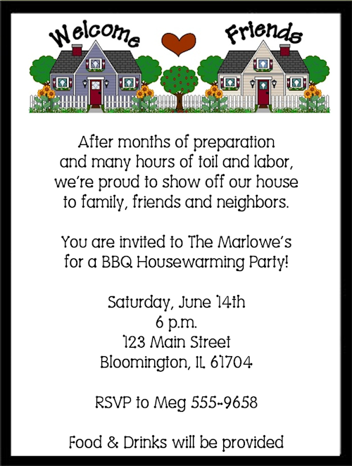 House Warming Party Invitations Free