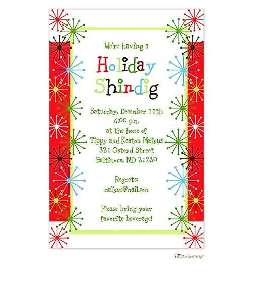 Humorous Christmas Party Invitation Wording