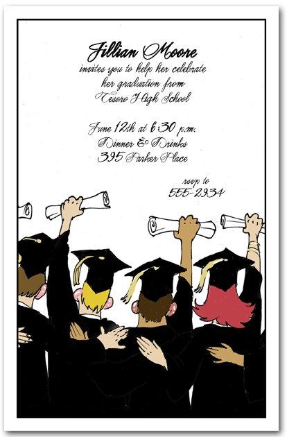 Humorous Graduation Party Invitation Wording