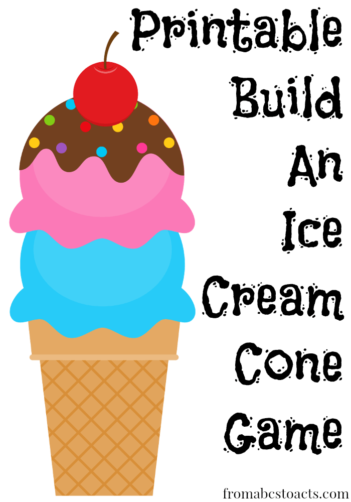 Ice Cream Cone Printable
