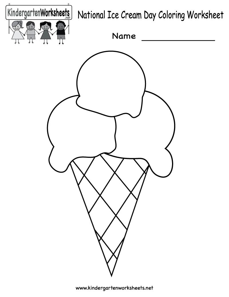 Ice Cream Printable Activities