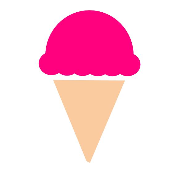 Ice Cream Scoop Black And White Clipart