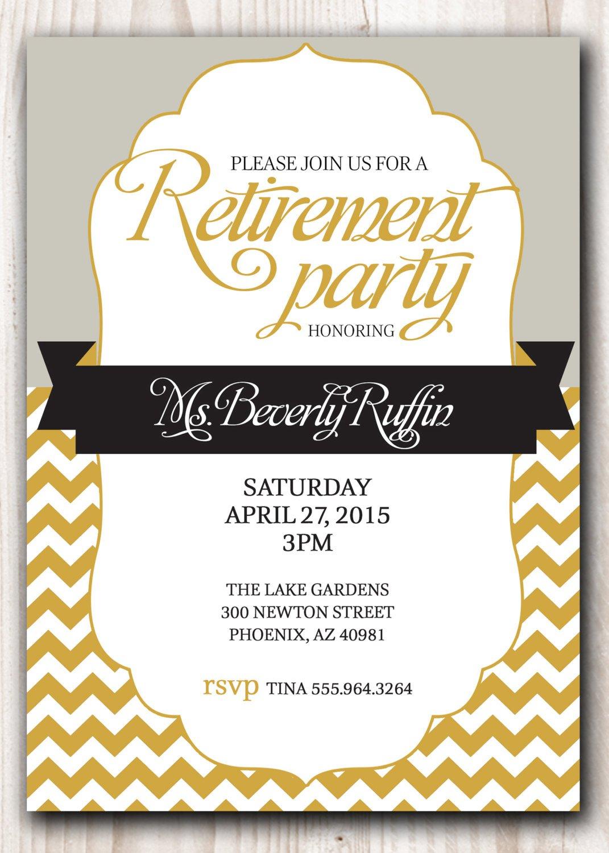 Ideas Retirement Party Invitations