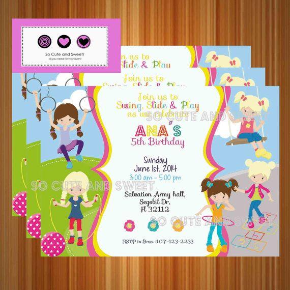 Indoor Playground Birthday Party Invitation