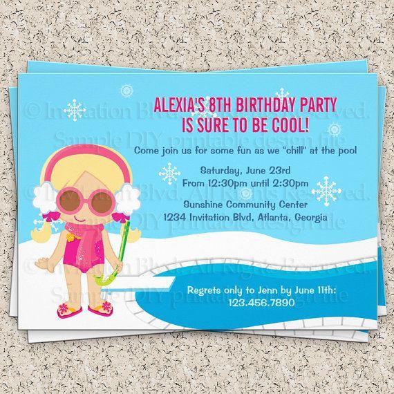 Indoor Pool Party Invitation Wording