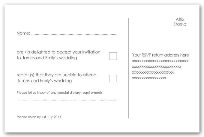 Invitation Inserts Examples