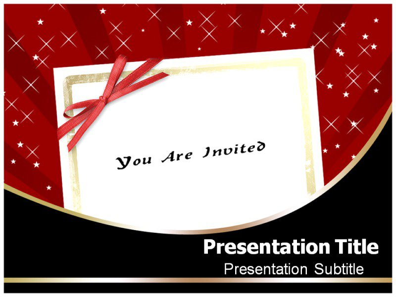 Invitation Powerpoint Templates Free