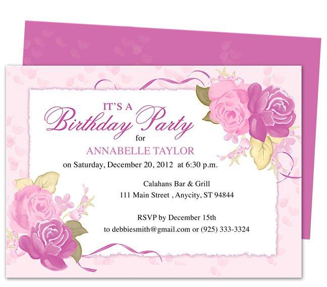 Isabella First Birthday Invitation Templates