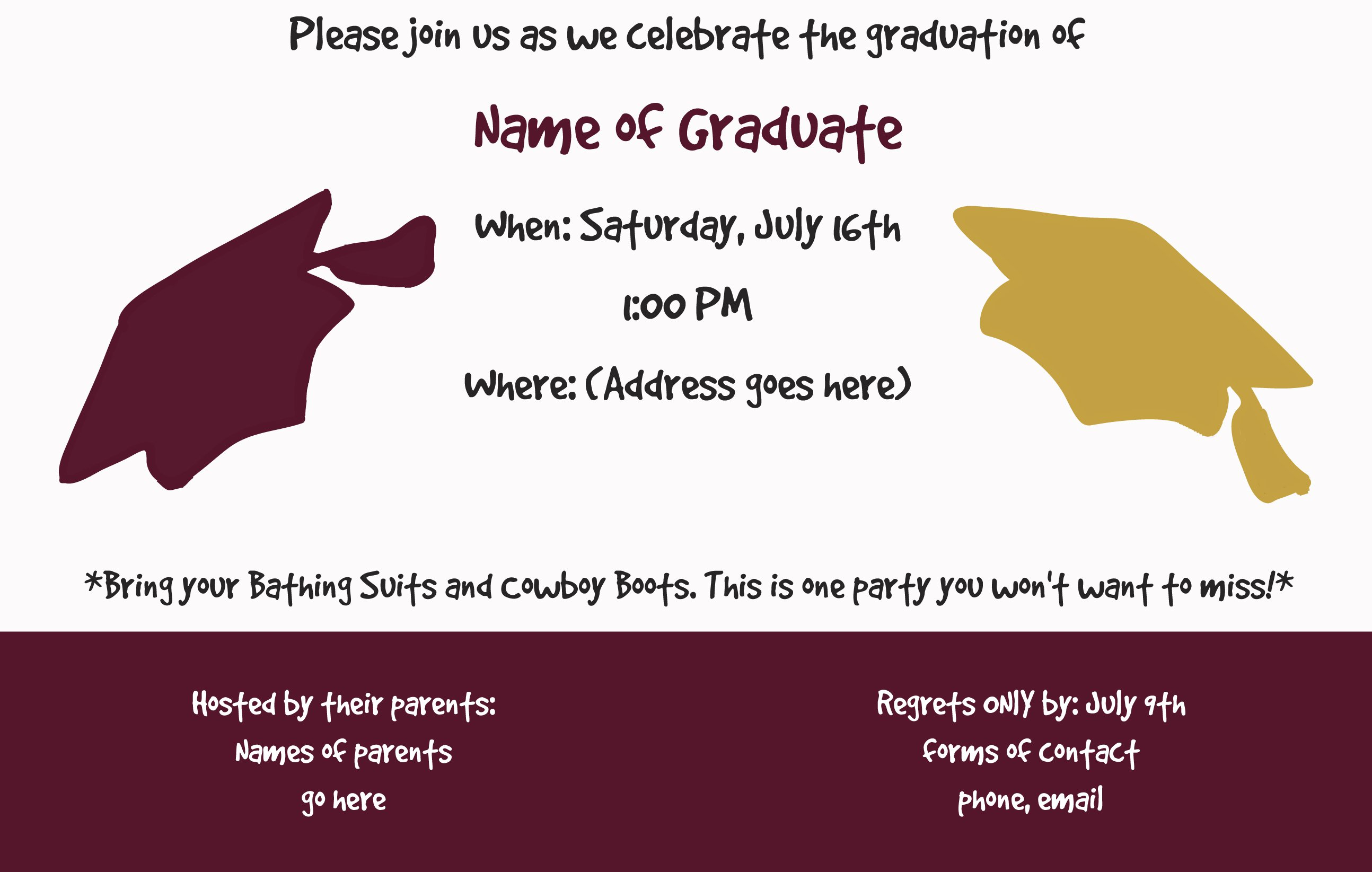 Joint Graduation Party Invitation Wording