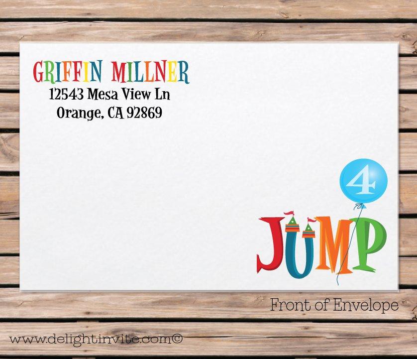 Jump Birthday Party Invitations