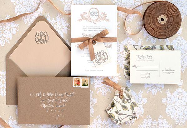 Kraft Paper Wedding Invitations Diy