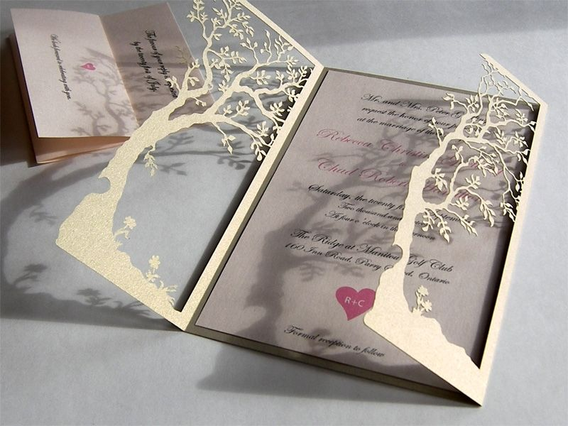 Laser-cut- Tree-wedding-invitations
