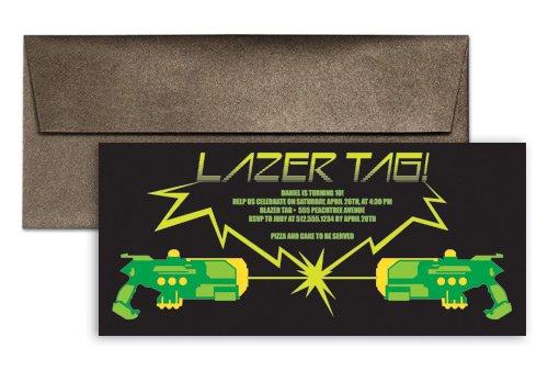 Laser Tag Invitation Template Free