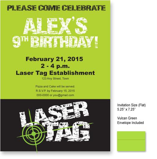 Laser Tag Invitation Templates
