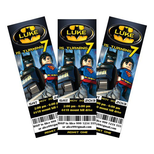 Lego Batman Printable Invitations