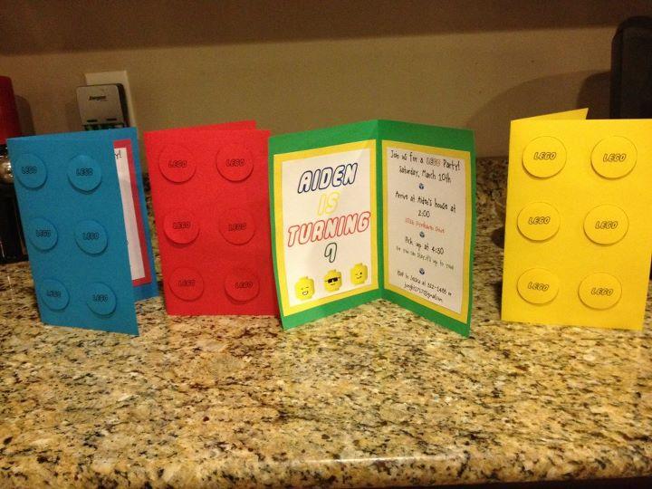 Lego Party Invitations Diy