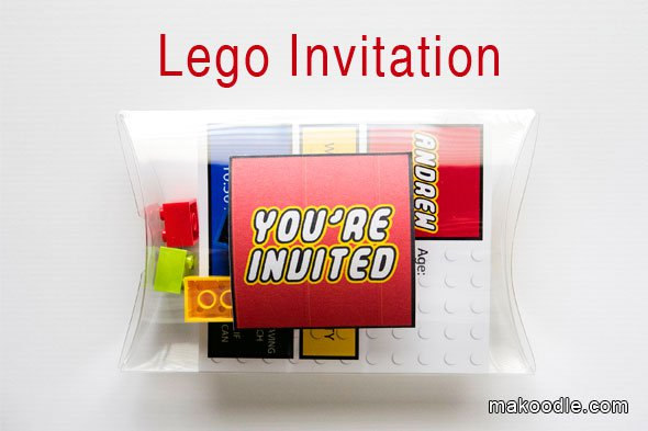 Lego Party Invitations Free