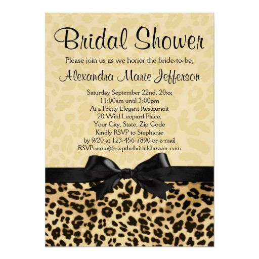 Leopard Print Invitation Cards