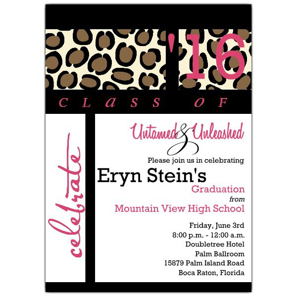 Leopard Print Invitations And Cards