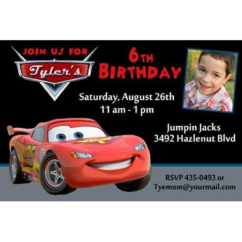 Lightning Mcqueen Birthday Party Invitations