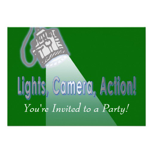 Lights Camera Action Party Invitations