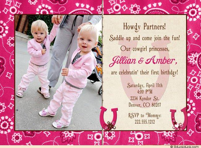 Little Girls First Birthday Invitations