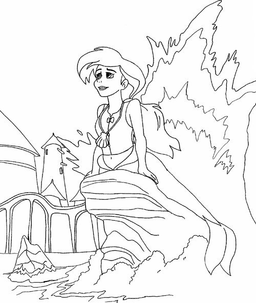 Little Mermaid 2 Coloring Pages Free