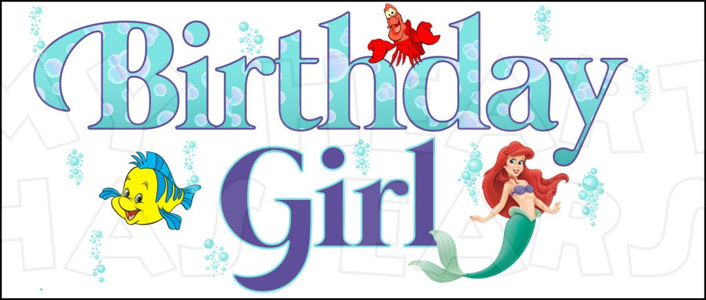Little Mermaid Birthday Clip Art