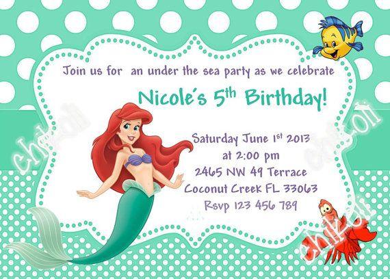 Mermaid Birthday Invitations – Mermaid Party Invitations Printable