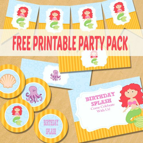 Little Mermaid Party Printables