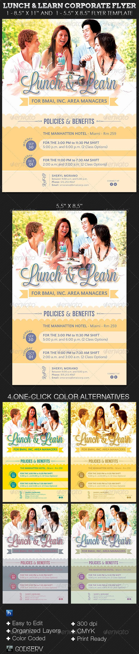 Lunch And Learn Invitation Templates