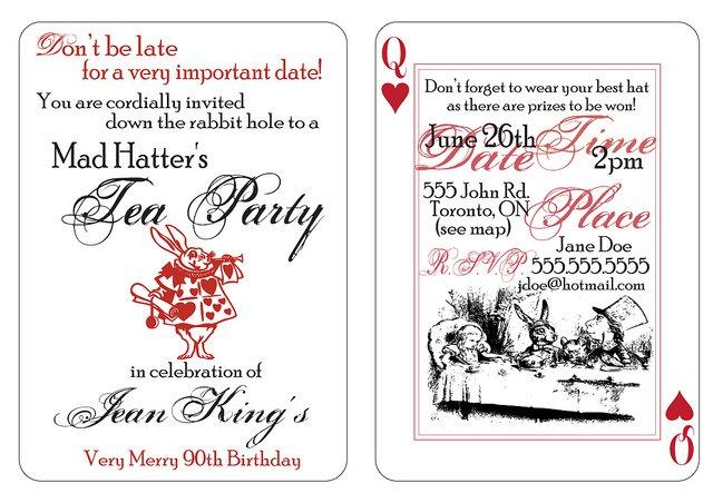 Mad Hatter Tea Party Invitations Free Printable