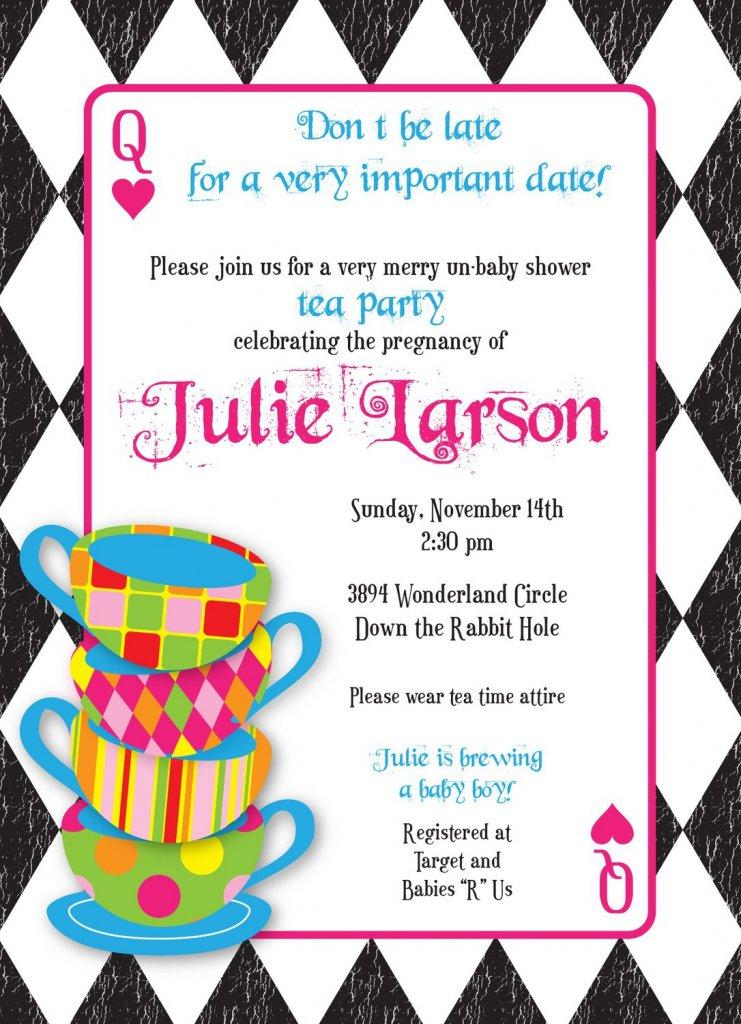Mad Hatters Tea Party Invitations Printable