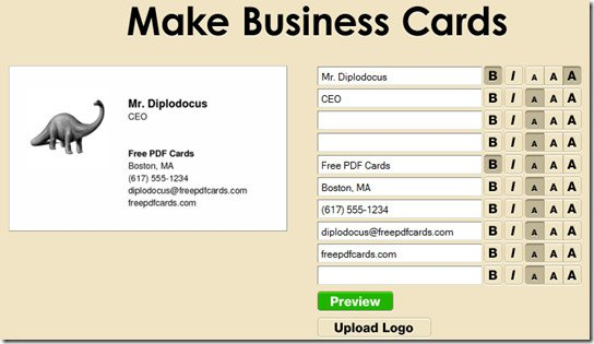 Make Free Business Cards Print At Home