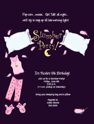 Make Slumber Party Invitations Online
