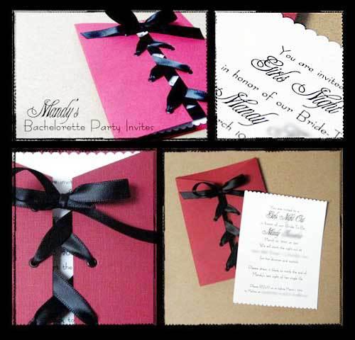 Make Your Own Bachelorette Invitations