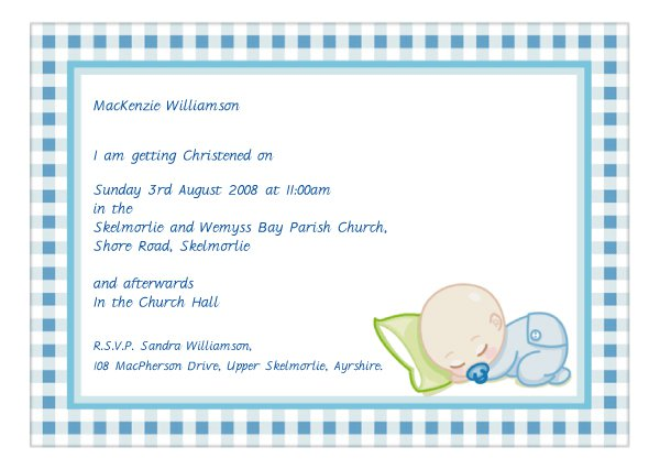 Make Your Own Baptism Invitations