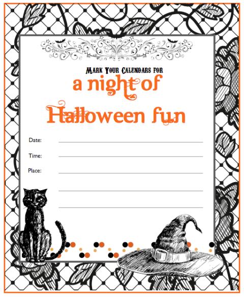 Make Your Own Halloween Invitations Free