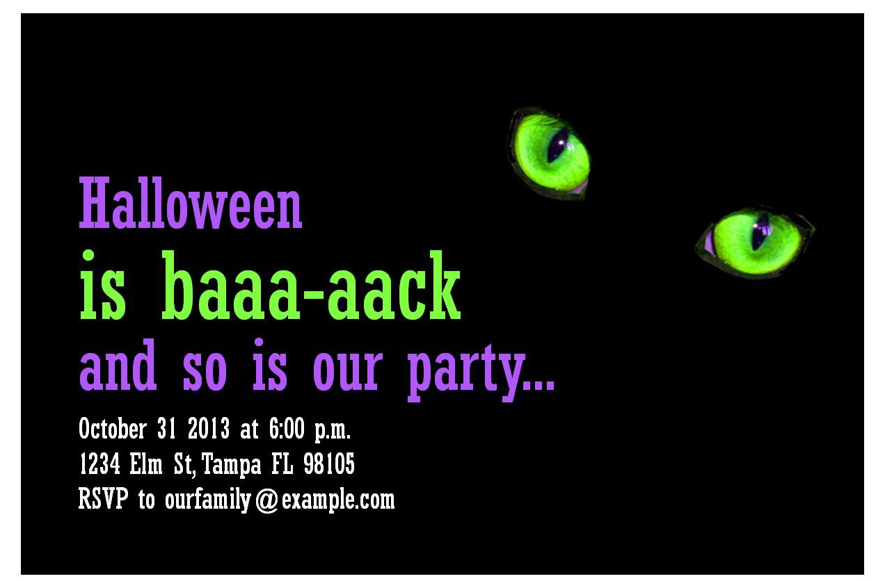 Make Your Own Halloween Invitations Online