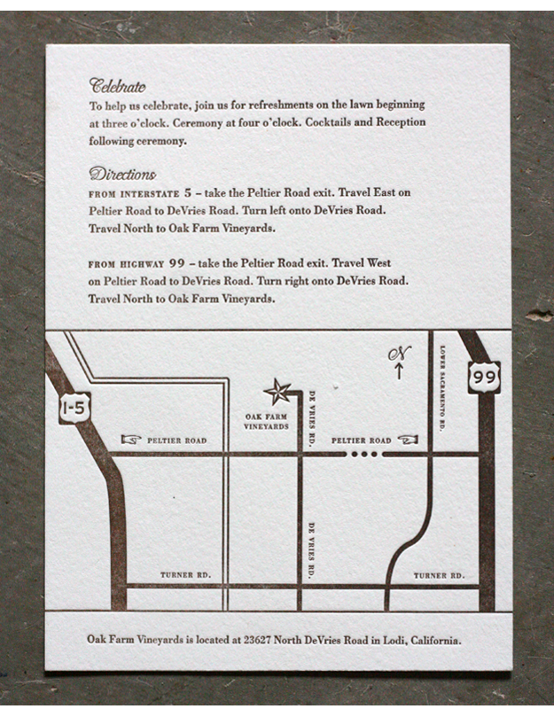 Map Inserts For Invitations