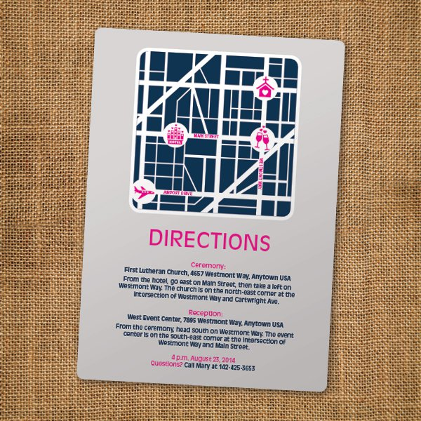 Map Inserts For Wedding Invitations