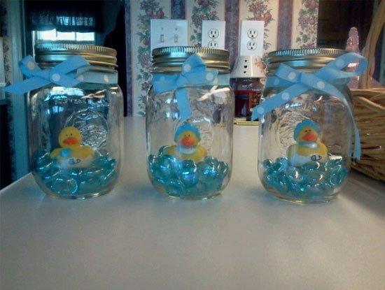 Mason Jar Baby Girl Shower Invitations