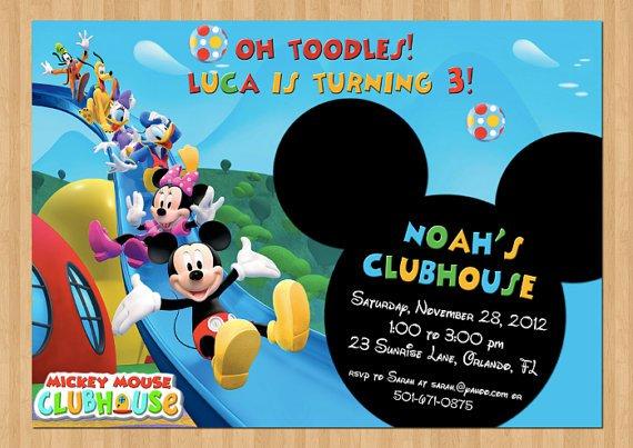 Meeska Mooska Mickey Mouse Birthday Invitations