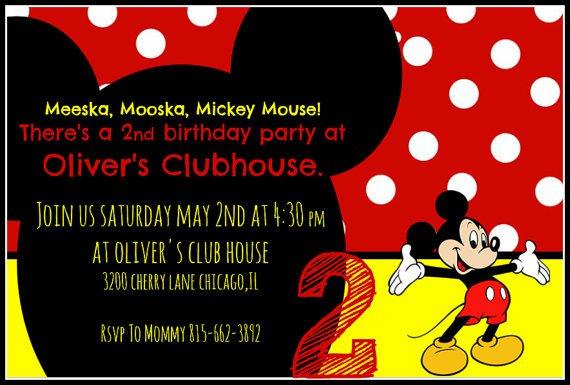 Meeska Mooska Mickey Mouse Invitation