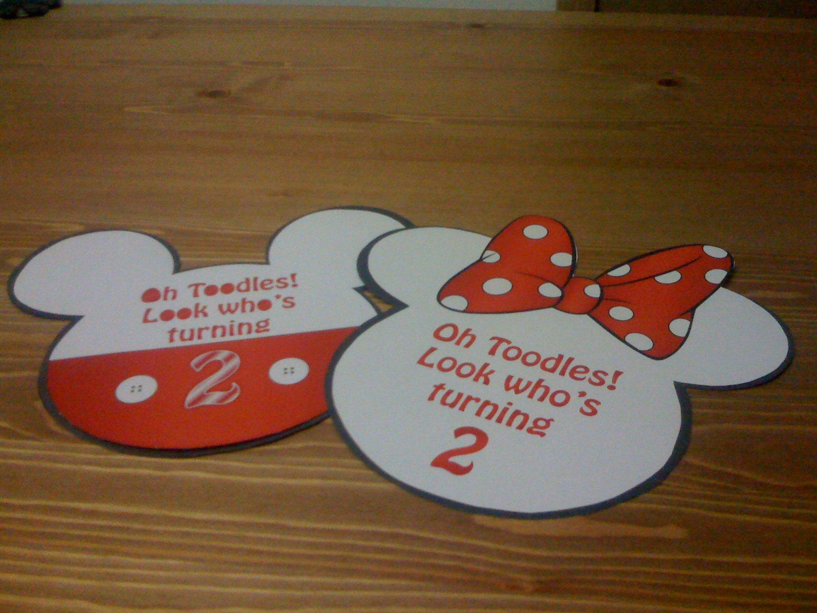 Meeska Mooska Mickey Mouse Invitations