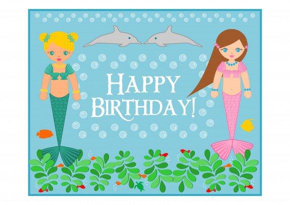 Mermaid Free Birthday Printables